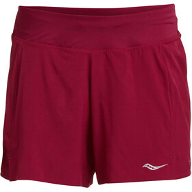 "saucony Tranquil 5"" Shorts Damen beet red"